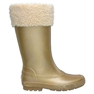 UGG gold rainboot