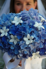 wedding bouquet blue