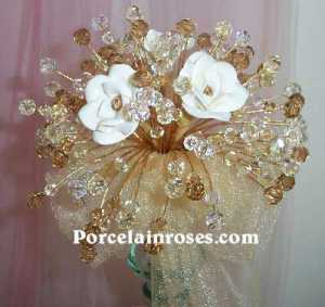 wedding bouquet gold