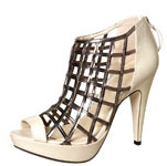 Topshop Lattice caged platforms