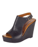 Elizabeth and James ankle wrap wedge heel