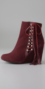 Just a smidge of tassle on a luxe suede bootie