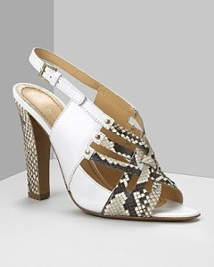 Pollini - I did python with my creamy vintage dress last summer
