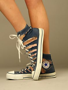 Shredded Converse at FreePeople.com