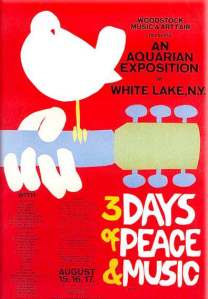 The original Woodstock event poster